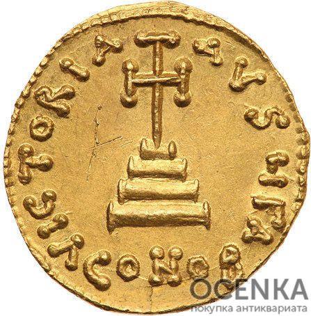 Золотой солид Византии, Леонтий, 695-698 год - 1