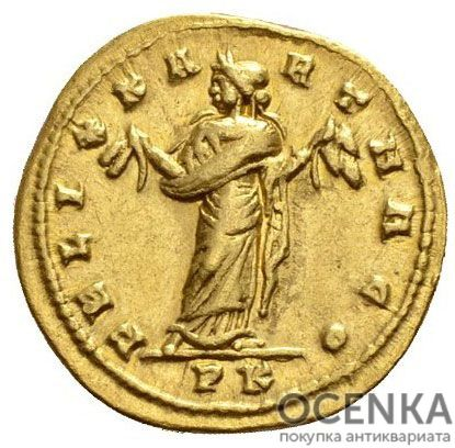 Золотой ауреус, Цезарь Марк Аврелий Валерий Максенций Август, 306-312 год - 1