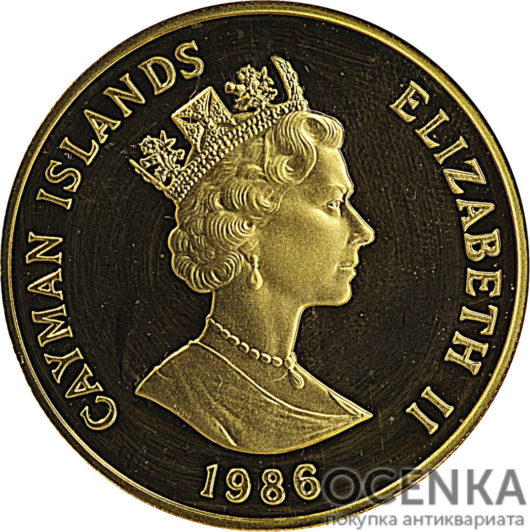 Золотая монета 250 Долларов Острова Кайман - 3