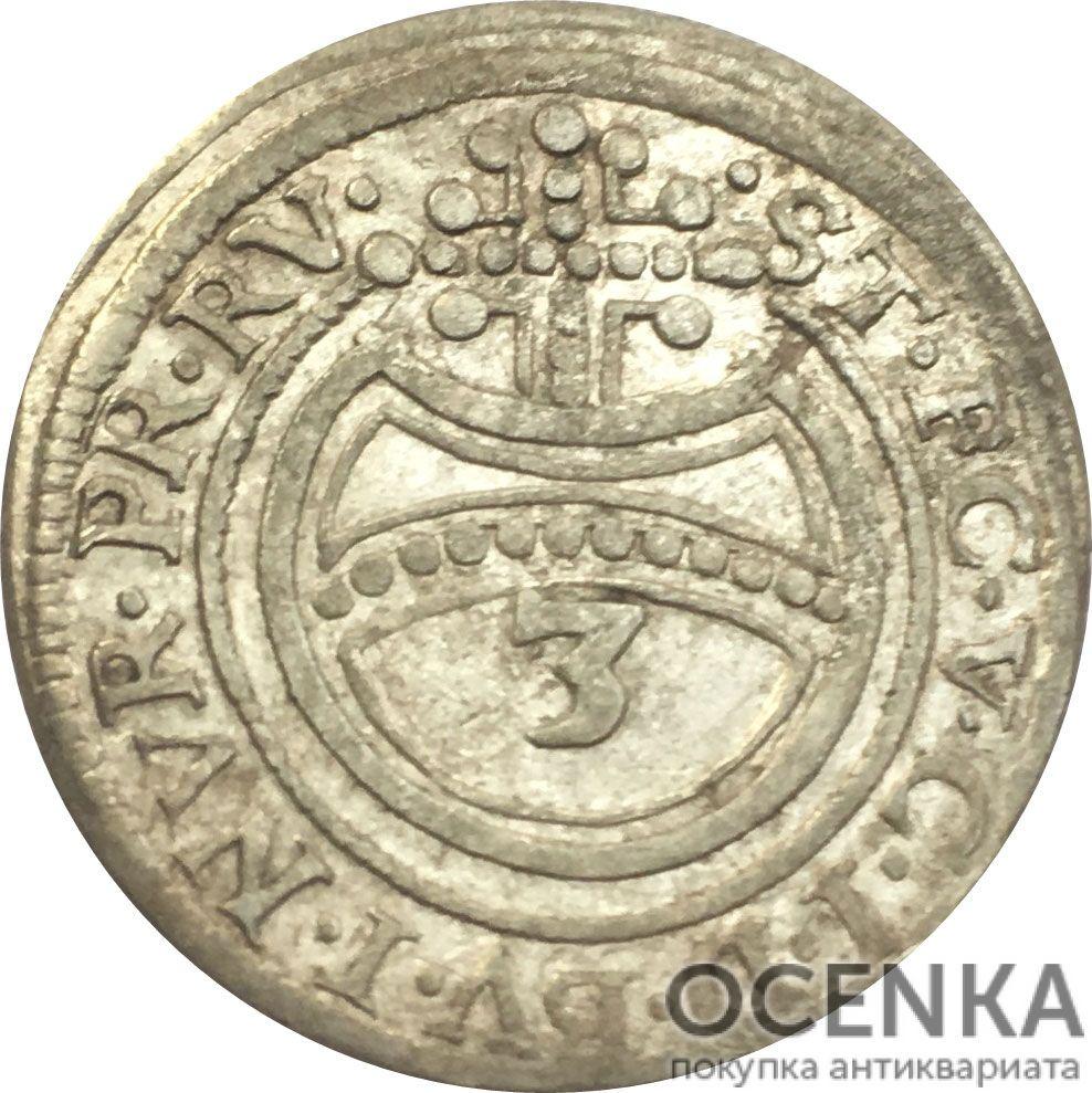 Серебряная монета 3 Крейцера (3 Kreuzer) Германия - 6