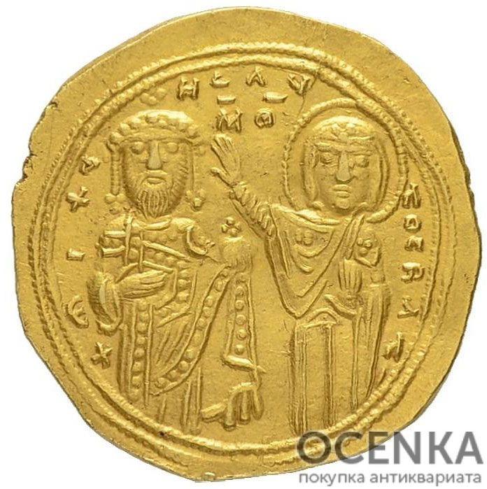 Золотой гистаменон Византии, Михаил VI Стратиотик, 1056-1057 год - 1