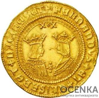 Золотая монета 20 Экскеленцев (20 Excelentes) Испания