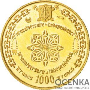 Золотая монета 1000 Франков (1000 Francs) Камеруна