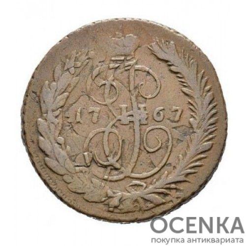 Медная монета 2 копейки Екатерины 2 - 5