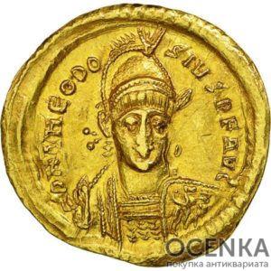 Золотой солид Византии, Флавий Валерий Лев I Макелла, 457-474 год