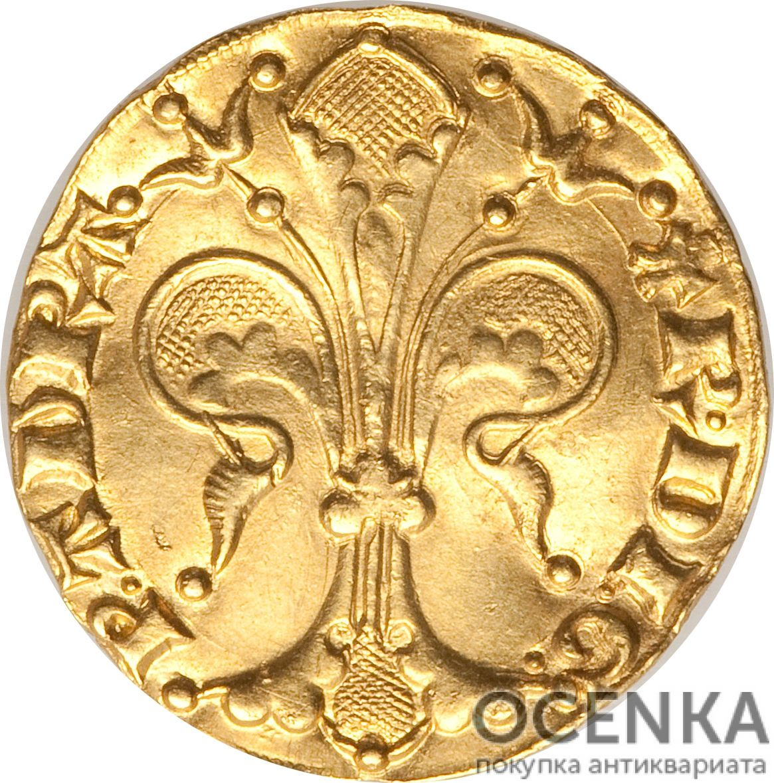 Золотая монета 1 Флорин(1 Florin) Франция - 2