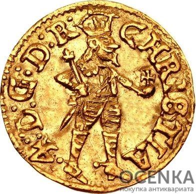 Золотая монета ¼ Дуката (¼ Ducat) Дания - 1