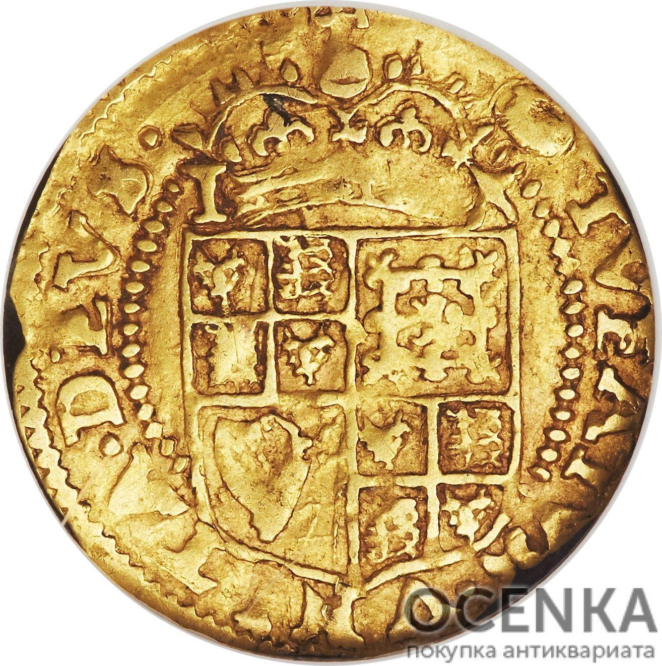 Золотая монета ½ Crown (полкроны) Великобритания - 2