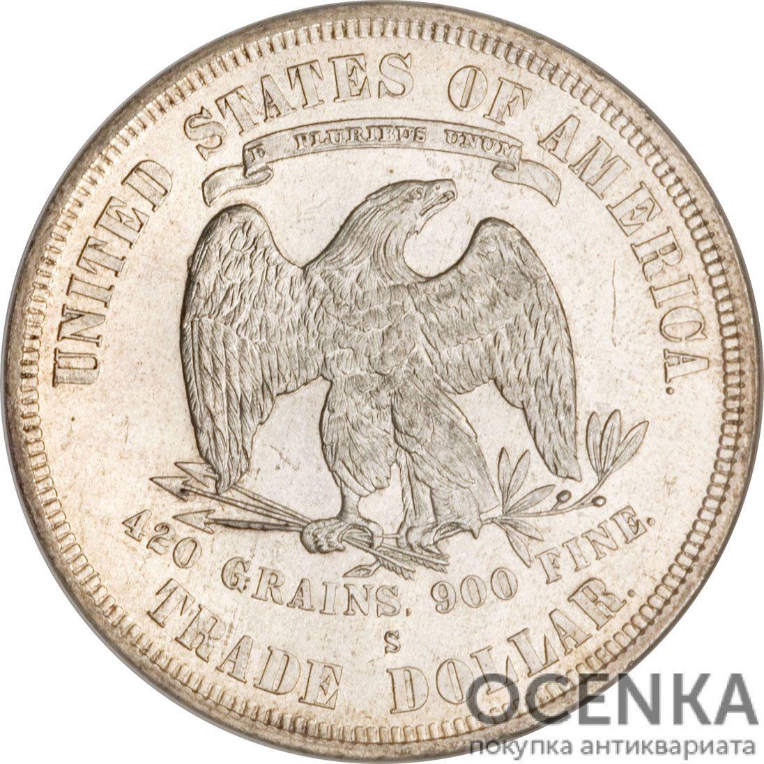 Серебряная монета 1 Доллар (One Dollar) США - 4