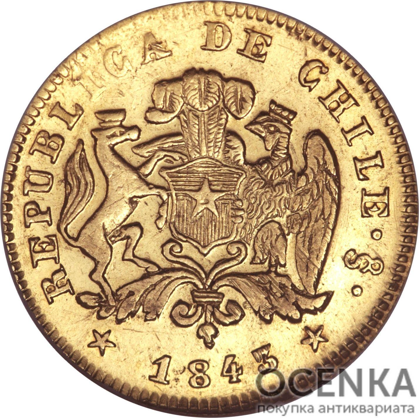 Золотая монета 1 Эскудо (1 Escudo) Чили - 7