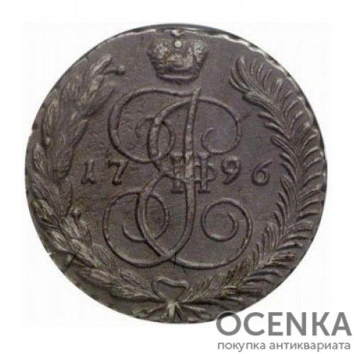 Медная монета 5 копеек Екатерины 2 - 9