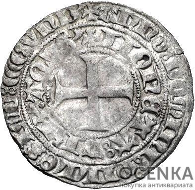 Серебряная монета Грош Средневековой Германии - 2