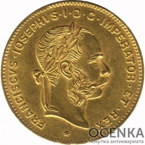 Золотая монета 4 флорина (10 франков) Австро-Венгрии - 4