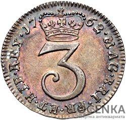 Серебряная монета 3 Пенса (3 Pence) Великобритания