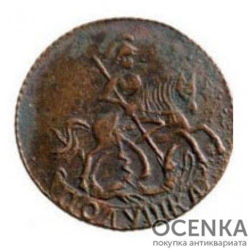 Медная монета Полушка Елизаветы Петровны - 8