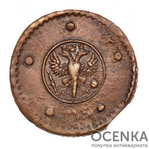 Медная монета 5 копеек Анны Иоанновны - 1