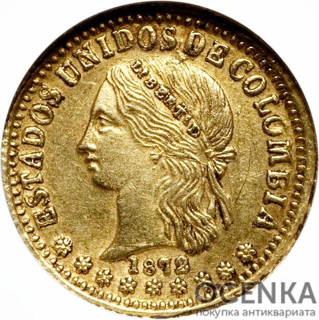Золотая монета 2 Песо (2 Pesos) Колумбия - 5