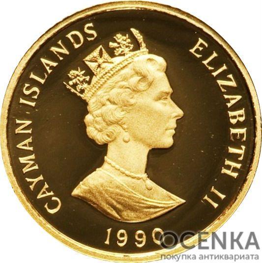 Золотая монета 100 Долларов Острова Кайман - 5