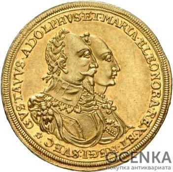 Золотая монета 2 Дуката Германия - 1