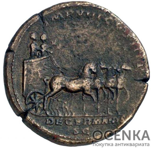 Медная монета Сестерций древнего Рима - 1