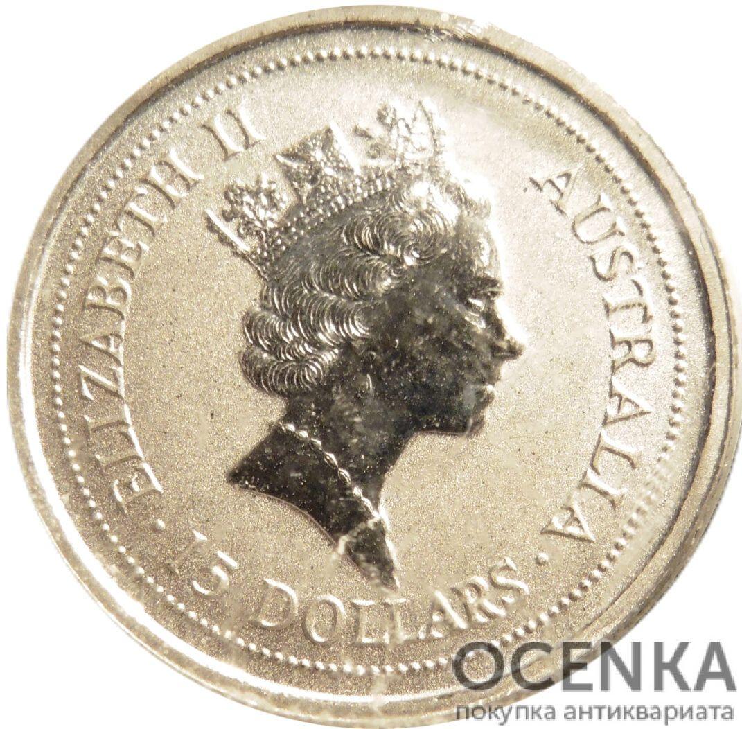 Платиновая монета 15 долларов Австралии - 2