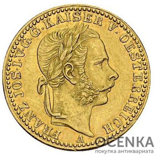 Золотая монета 1/2 кроны Австро-Венгрии - 3