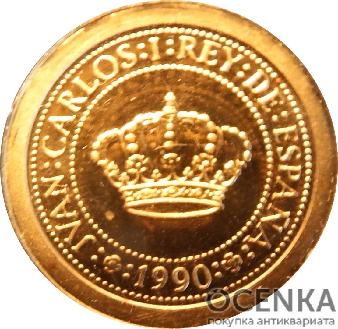 Золотая монета 5000 Песет (5000 Pesetas) Испания - 3