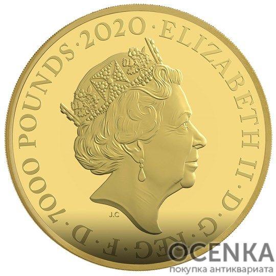 Золотая монета 7000 Pounds (7000 фунтов) Великобритания