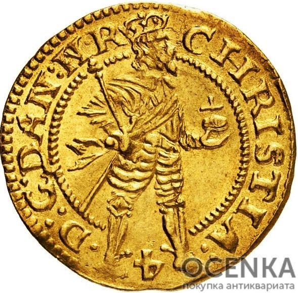 Золотая монета 1 Дукат (1 Ducat) Дания - 3