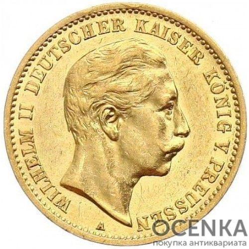 Золотая монета 10 Марок Германия - 5