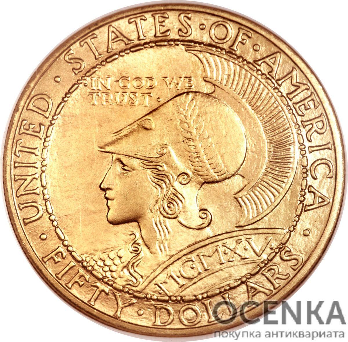 Золотая монета 50 Dollars (50 долларов) США - 1
