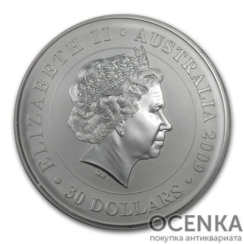 Серебряная монета 30 долларов 2009 год. Австралия. Коала - 1