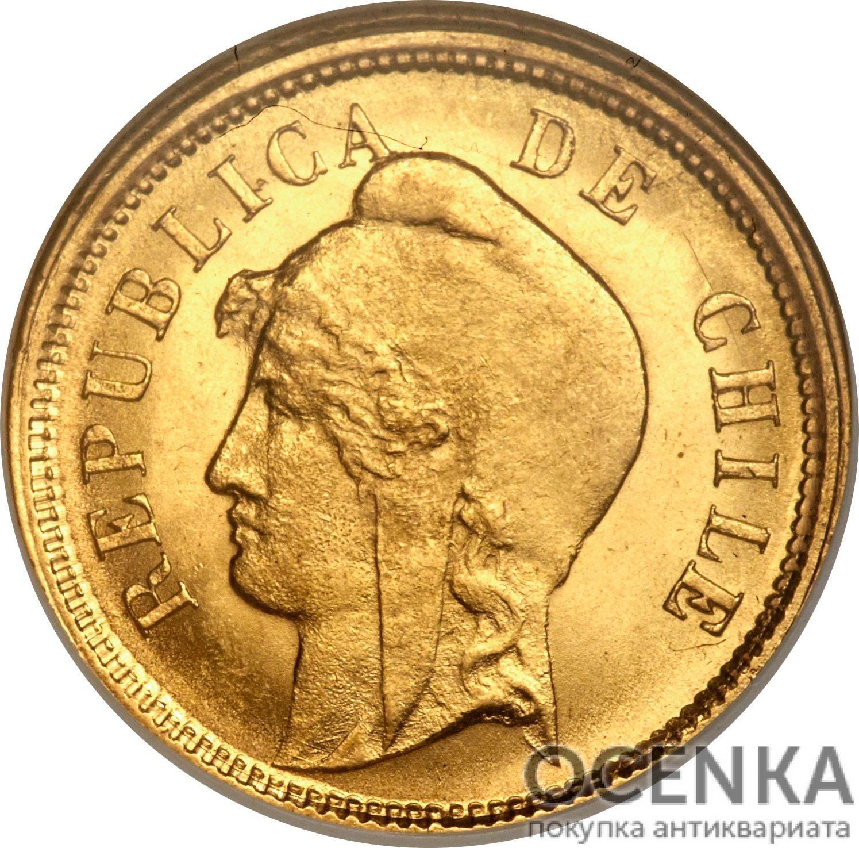 Золотая монета 10 Песо (10 Pesos) Чили - 3