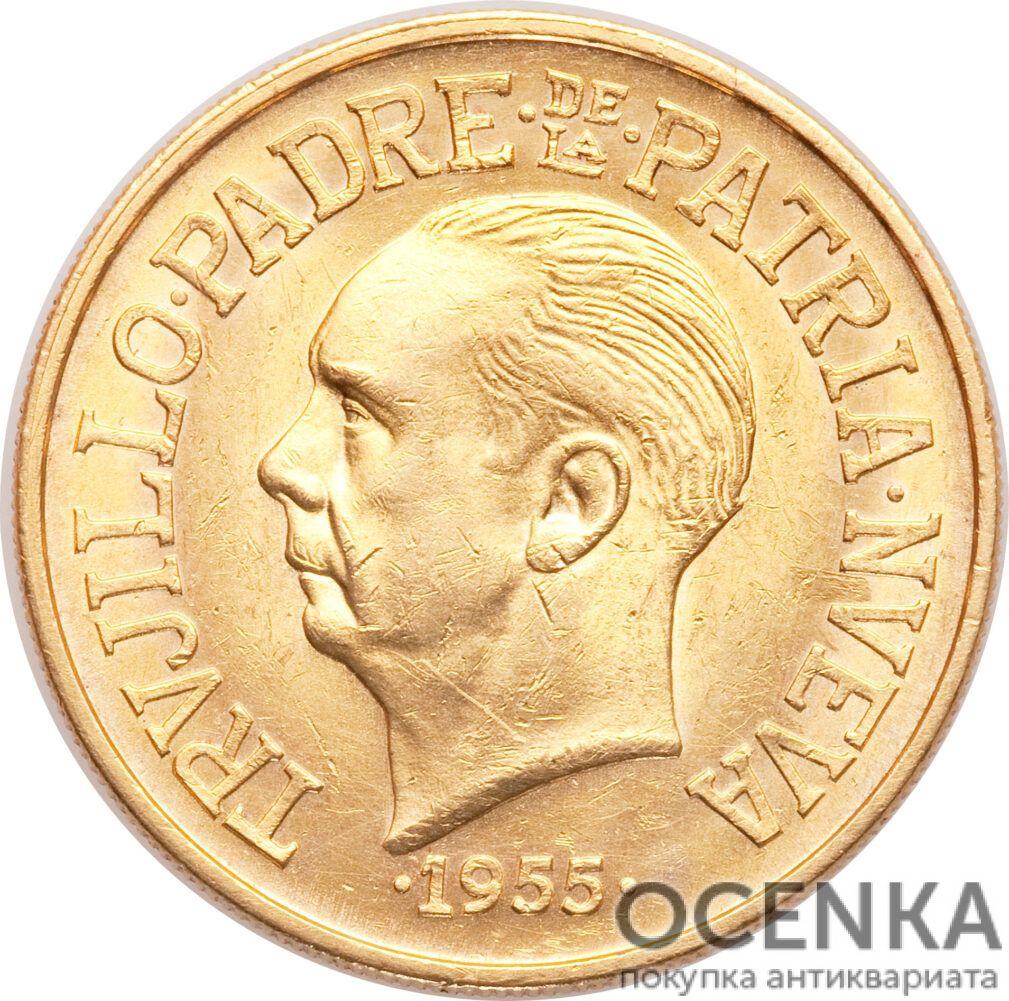 Золотая монета 30 Песо (30 Pesos) Доминикана - 1