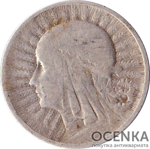 Серебряная монета 2 Злотых (2 Złote) Польша - 2