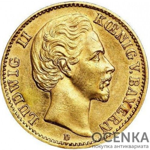 Золотая монета 10 Марок Германия - 1