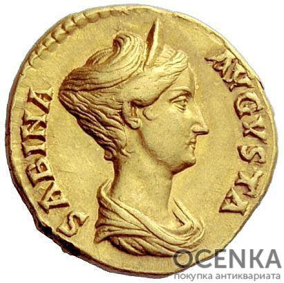 Золотой ауреус, Вибия Сабина, 117-137 год