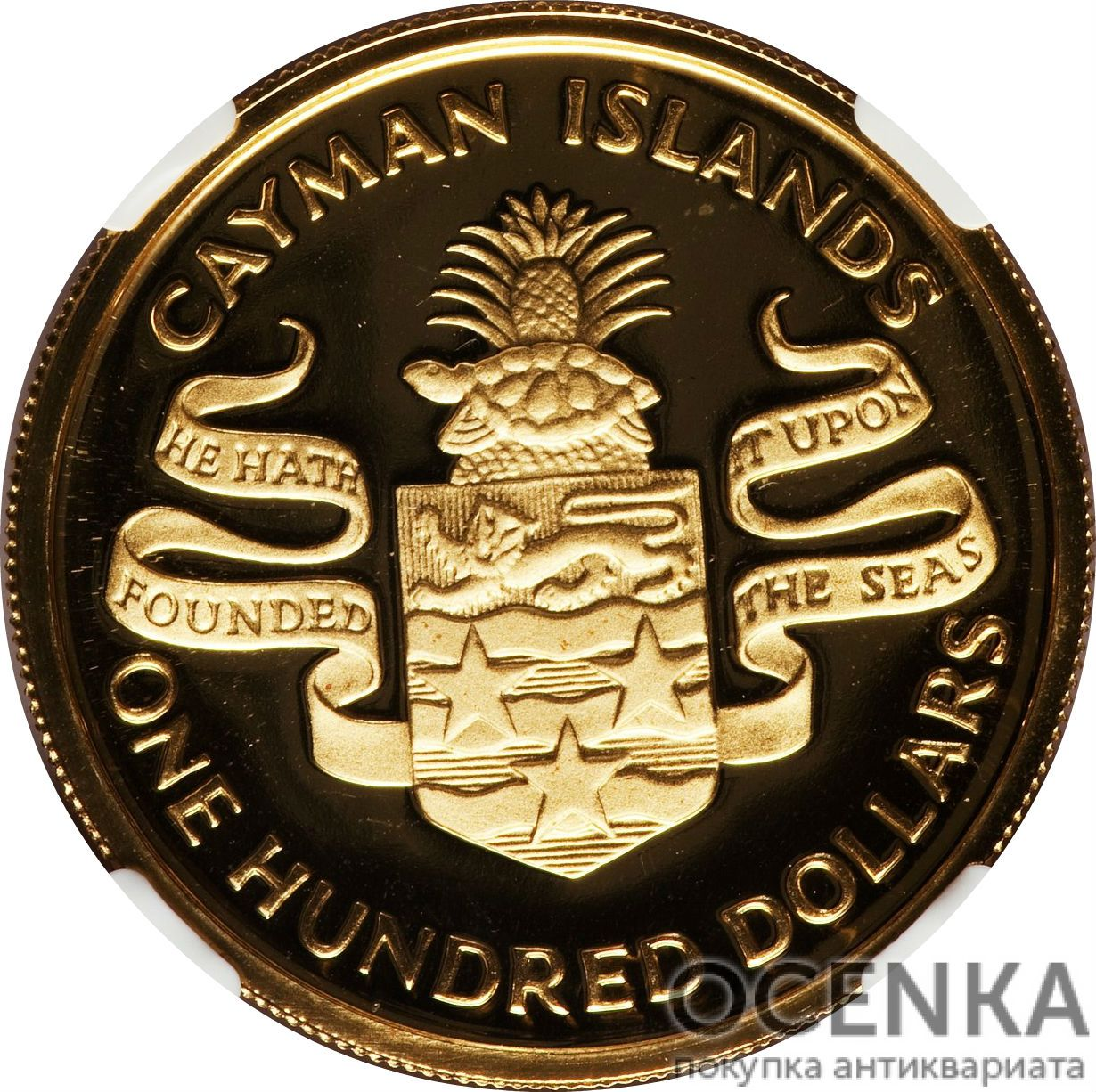Золотая монета 100 Долларов Острова Кайман