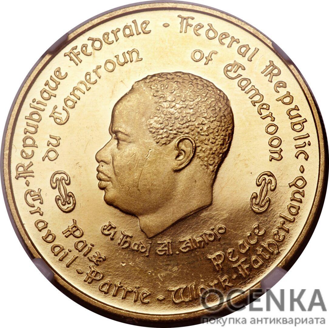 Золотая монета 5000 Франков (5000 Francs) Камеруна - 1