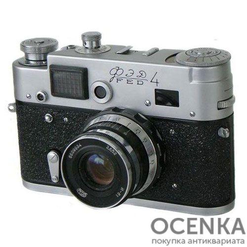 Фотоаппарат ФЭД-4 бескурковый 1964-1966 год
