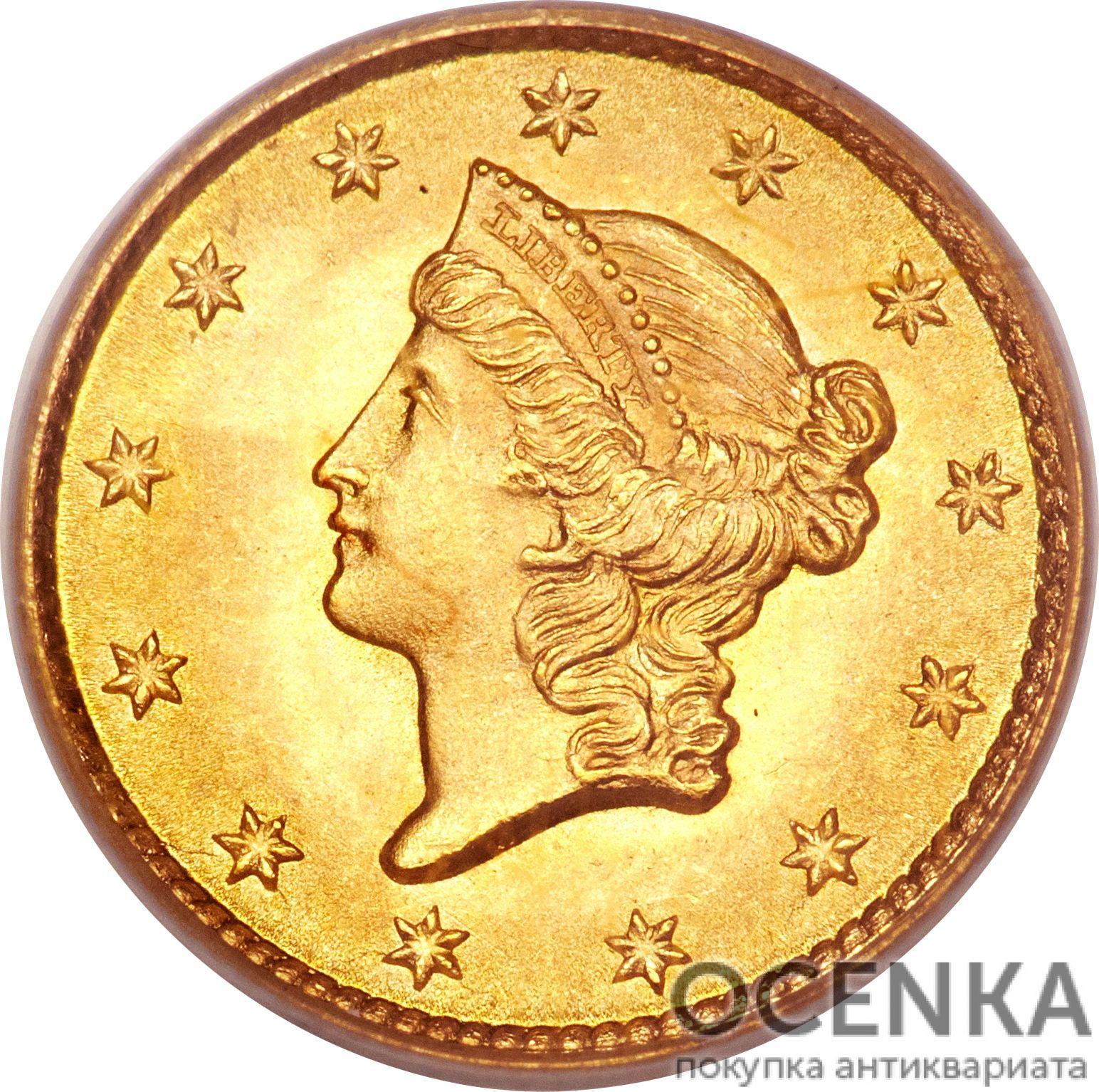 Золотая монета 1 Dollar (доллар) США - 1