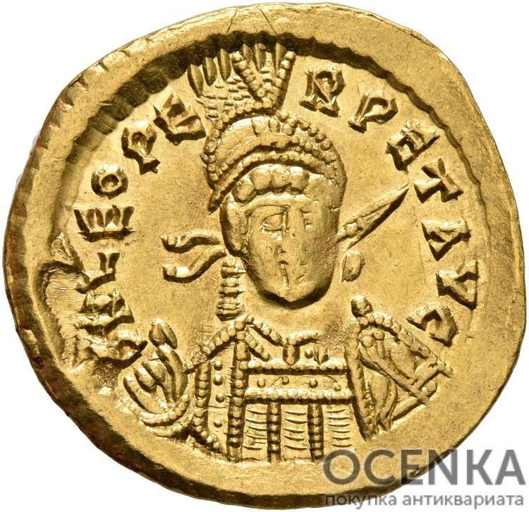 Золотой солид Византии, Флавий Лев II Юниор, 473-474 год
