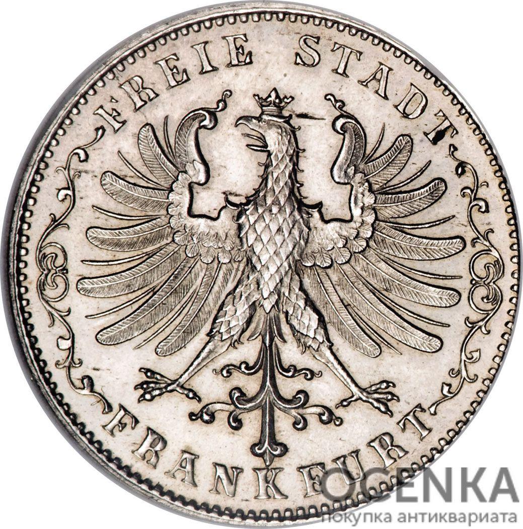 Серебряная монета ½ Гульдена (½ Gulden) Германия - 5
