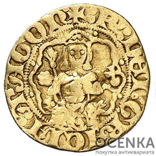 Золотая монета ¼ Реала (¼ Real) Испания - 1