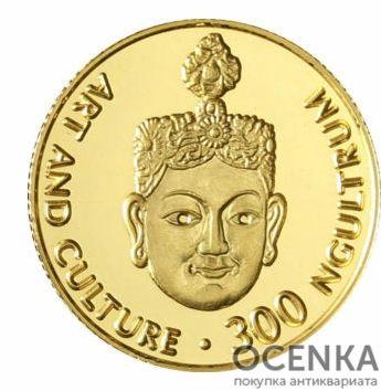 Золотая монета 300 Нгултрумов (300 Ngultrums) Бутана