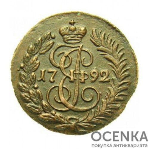 Медная монета Полушка Екатерины 2 - 7