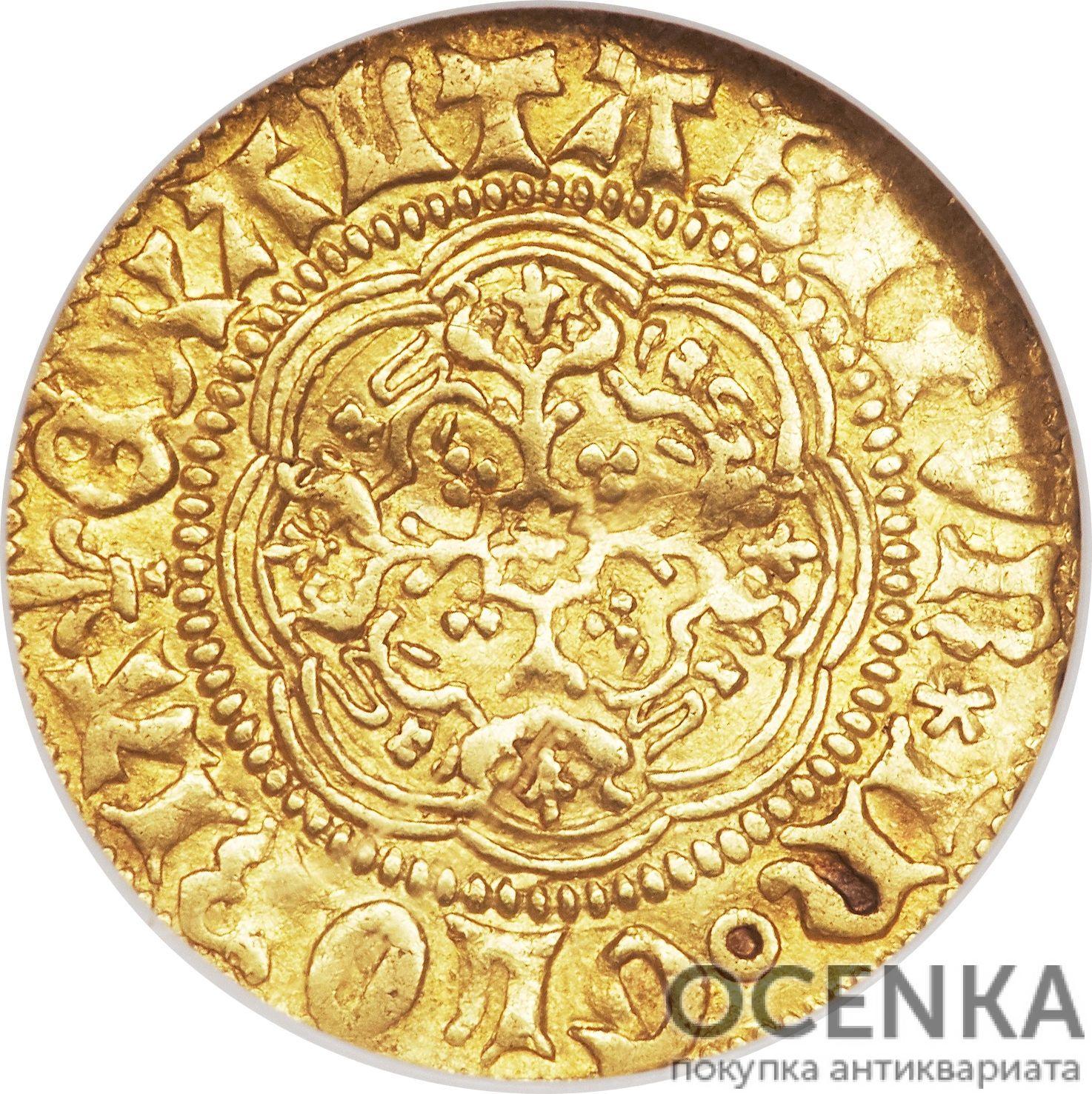 Золотая монета ¼ Noble (1/4 нобля) Великобритания - 6