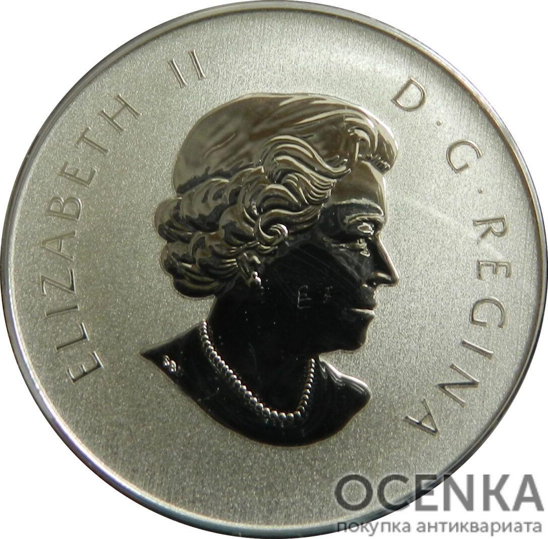 Серебряная монета 10 Долларов Канады - 1
