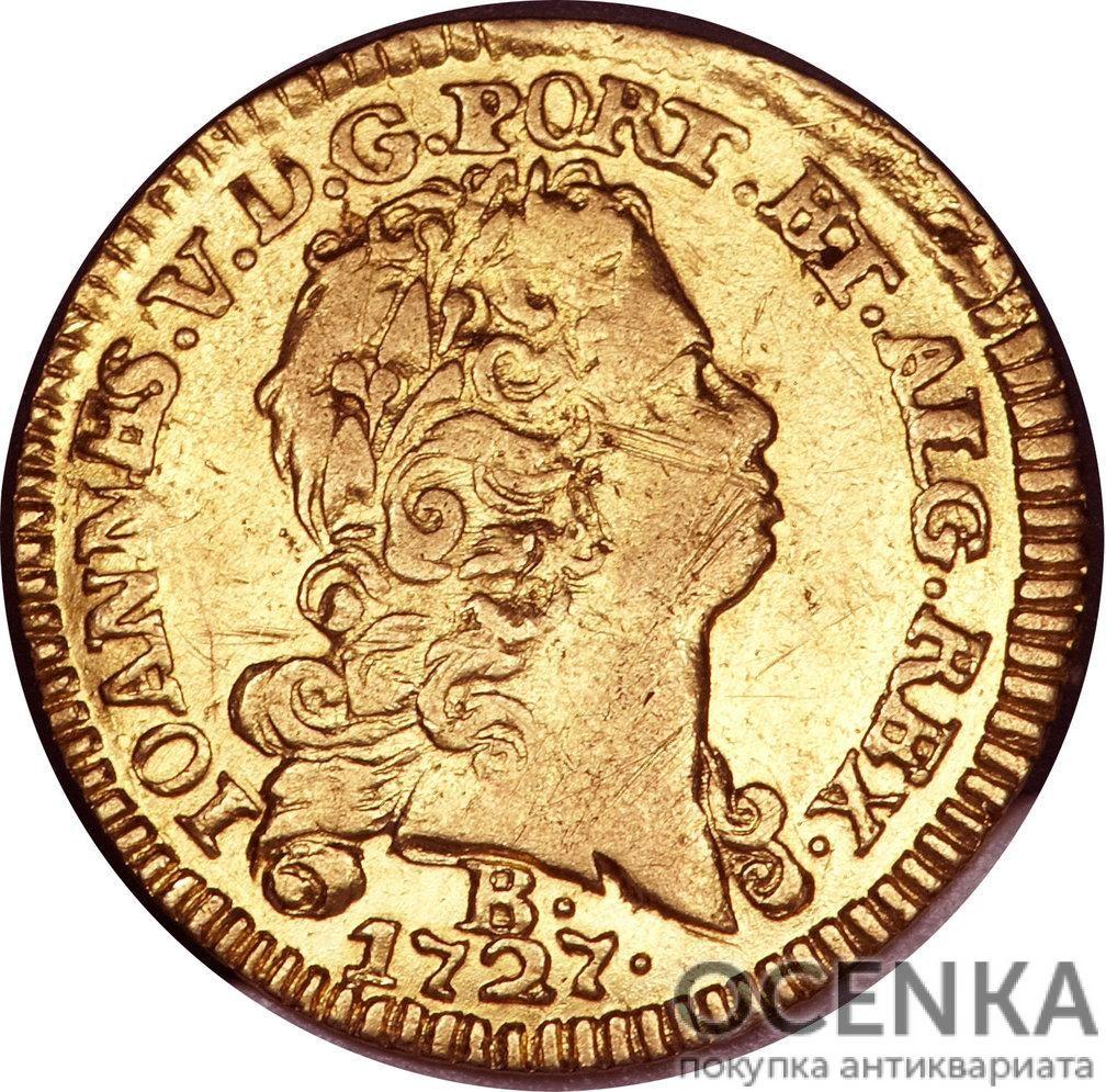 Золотая монета 1 рейсов (800 Réis) Бразилия