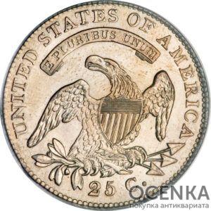 Серебряная монета 25 центов (25 Cents) США
